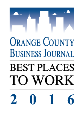 Orange County Business Journal's Best Places to Work 2016 award Logo