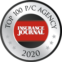 Insurance Journal's Top 100 Property & Casualty Agency of 2018 award logo